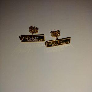Harley Davidson earrings